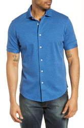 Bugatchi Regular Fit Knit Cotton Shirt