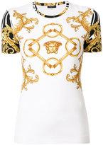 Versace Signature print T-shirt - women - Spandex/Elastane/Viscose - 44