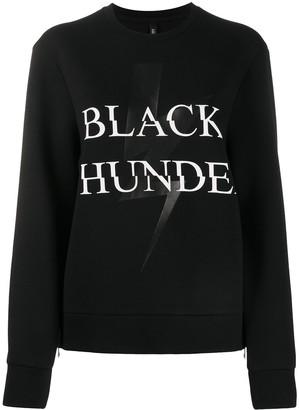 Neil Barrett Black Thunder print sweatshirt