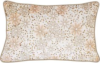 Edie@Home Celebrations Metallic Floral Decorative Pillow