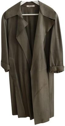 Bally Khaki Leather Coat for Women
