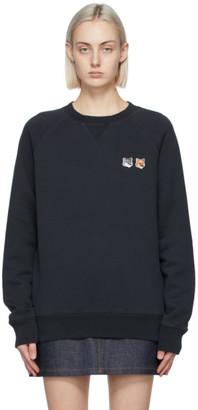 MAISON KITSUNÉ Black Double Fox Head Sweatshirt