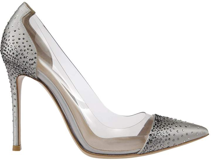 Gianvito Rossi Stone Embellished Pumps