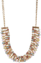 Joe Fresh Multi Color Bead Frontal Necklace