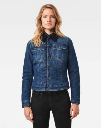 Womens Sherpa denim jacket