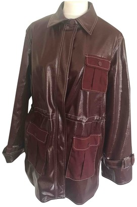 Ganni Fall Winter 2019 Burgundy Polyester Jackets