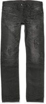 Fabric-brand & Co - Moku Slim-fit Distressed Washed Selvedge Denim Jeans