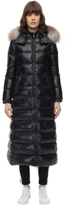 Moncler Hudson Long Nylon Laque Down Coat