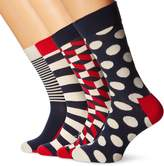 Happy Socks 4-Pack Stripes & Dots Men's Socks Gift Pack