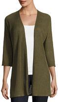 Eileen Fisher 3/4-Sleeve Organic Linen Links Cardigan