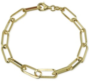 Argentovivo Knife Edge Link Bracelet in 18k Gold-Plated Sterling Silver
