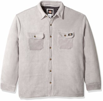 Dickies Men's Relaxed fit Micro Fleece Quilted Shirt Jacket Big