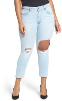 Good American Women's Good Cuts Ripped Boyfriend Jeans
