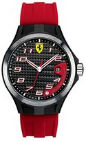 Ferrari 0830014 Lap Time Red Silicone Strap Black Dial Men's Watch