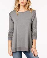 Kensie Ruffled Contrast Sweater