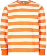 Albam Sweatshirt - Orange/Ecru Stripe