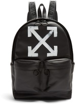Off-White Brushed arrows-print leather backpack