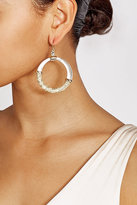 Alexis Bittar Raffia Hoop Earings with 10K Gold