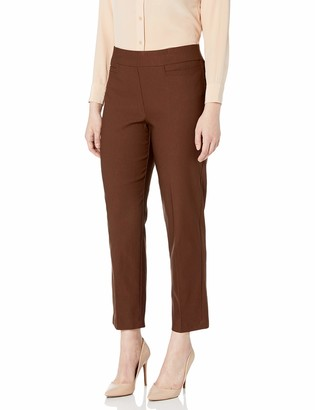 Alfred Dunner Women's Allure Slimming Petite Short Stretch Pants-Modern Fit
