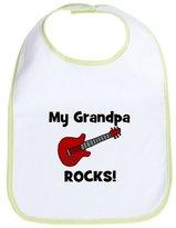 CafePress - My Grandpa Rocks! (Guitar) - Cute Cloth Baby Bib, Toddler Bib