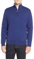 Bobby Jones Men's Windproof Merino Wool Quarter Zip Sweater