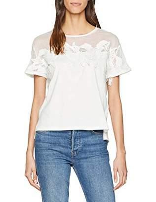 Teddy Smith Women's Tulco Mc T-Shirt, (Middle White 219), (Size: 2/M)