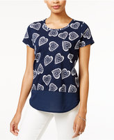 Maison Jules Printed Contrast T-Shirt, Only at Macy's