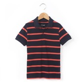 La Redoute Collections Striped Cotton Piqu Polo Shirt: 3-12 Years