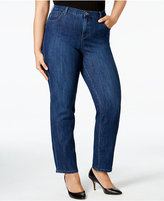 Style&Co. Style & Co. Plus Size Tummy-Control Straight-Leg Jeans, Only at Macy's