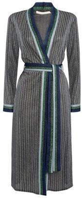 Jonathan Simkhai Metallic Stripe Belted Cardigan