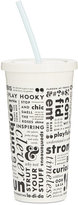 Kate Spade Brand Words Tumbler with Straw