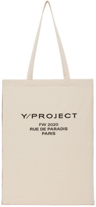 Y/Project Reversible Red and Beige Scarf Tote Bag