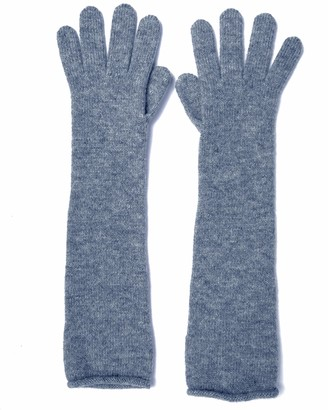 Graham Cashmere - Pure Cashmere Long Length Gloves - Made in Scotland - Gift Boxed (Denim)(Size: One Size)