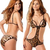 S.MILE Smlie Europe and the temptation of the wild leopard sexy lingerie piece suit fun