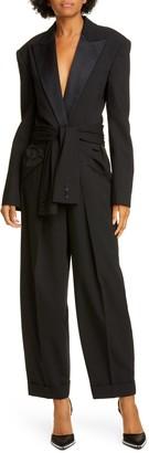 Alexander Wang Tie Waist Tuxedo Jumpsuit