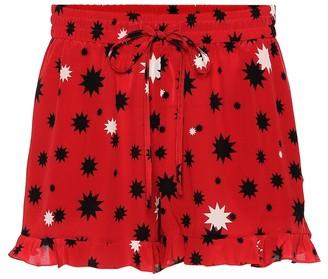 RED Valentino printed silk shorts