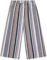 Il Gufo Striped cotton and linen pants