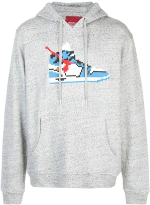 Mostly Heard Rarely Seen 8-Bit True Blue hoodie