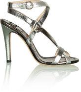 Printed Python Metallic Sandal