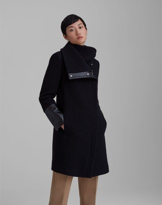 Club Monaco Halli Leather Trim Coat