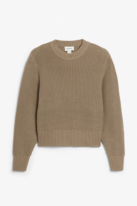Monki Balloon sleeve knit sweater
