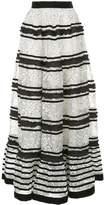 Huishan Zhang flared lace maxi skirt