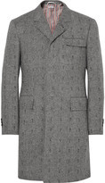Thom Browne Embroidered Herringbone Wool Coat