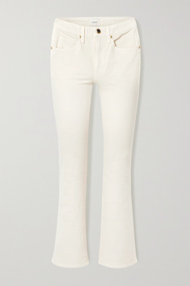 KHAITE Vivian Cropped High-rise Bootcut Jeans - Ivory