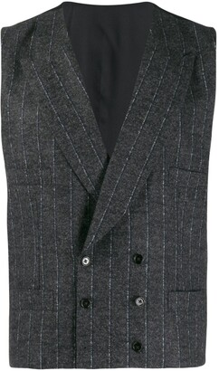 Dolce & Gabbana Double-Breasted Pinstripe Vest