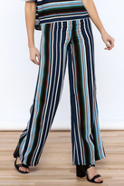 Alythea Navy Stripe Pants