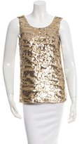 Rachel Zoe Sleeveless Sequined Top
