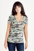 True Religion Micro Camo Womens Tee
