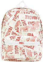 MM6 MAISON MARGIELA fragile print backpack - women - Cotton/Polyamide/Polyester/Polyurethane - One Size