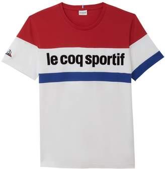 Le Coq Sportif Cotton Tricolour T-Shirt
